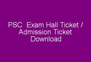 PSC hall ticket download