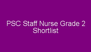 psc staff nurse shortlist