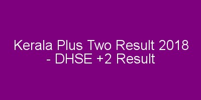Plus two result 2018 - DHSE / VHSE