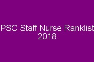PSC Staff Nurse Rank List