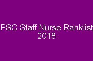 PSC Staff Nurse Rank List