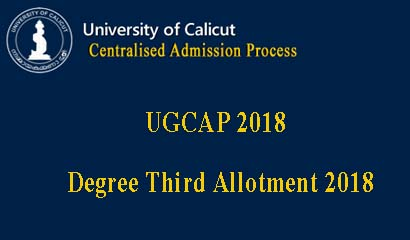 Calicut University Third Allotment 2018
