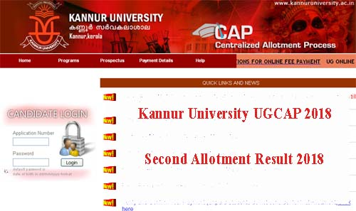 Kannur University Degree Second Allotment 2018