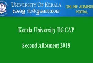 Kerala University Second Allotment