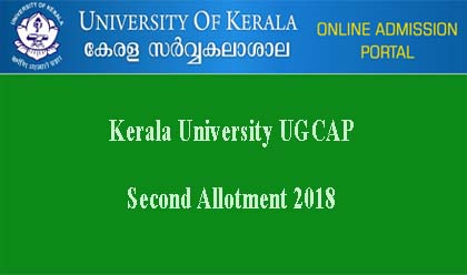 Kerala University Second Allotment