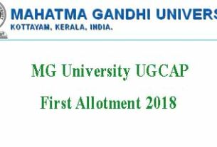 MG University Degree Allotment 2018