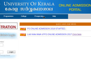 Kerala University PG First Allotment Result 2018