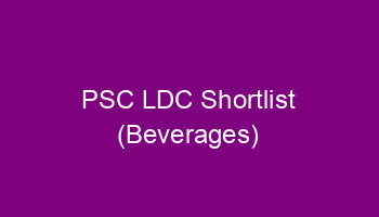 PSC Beverages LDC Shortlist published - 561/2014