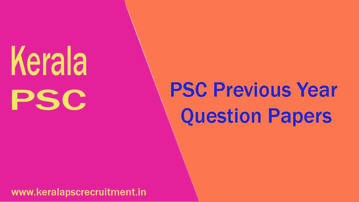 Kerala PSC Previous Questions