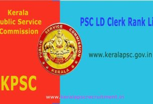 PSC LD Clerk Rank List