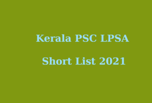 LPSA Short list